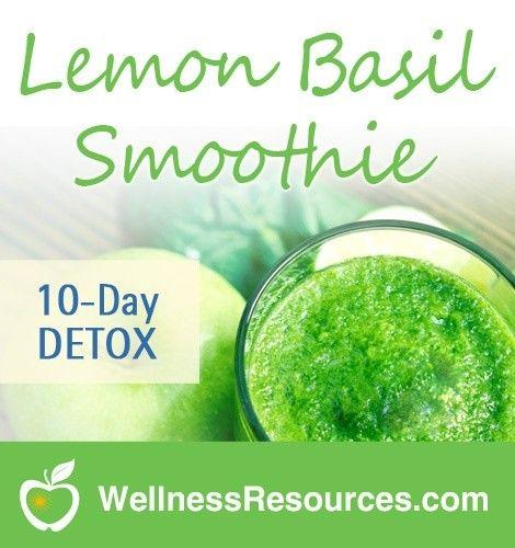 Lemon Basil Detox Smoothie