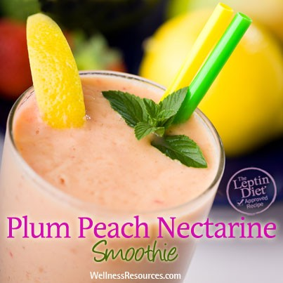 Plum Peach Nectarine Smoothie