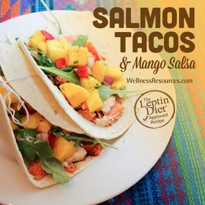 Salmon Tacos and Mango Salsa
