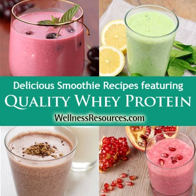 Delicious Smoothie Recipes Featuring Quality Whey Protein