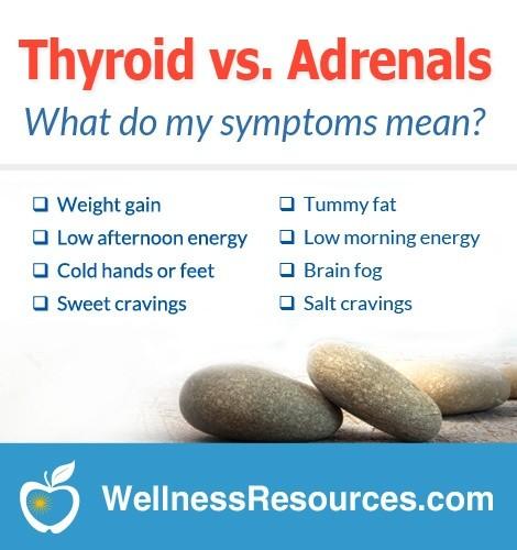 thyroid symptoms vs. adrenal symptoms