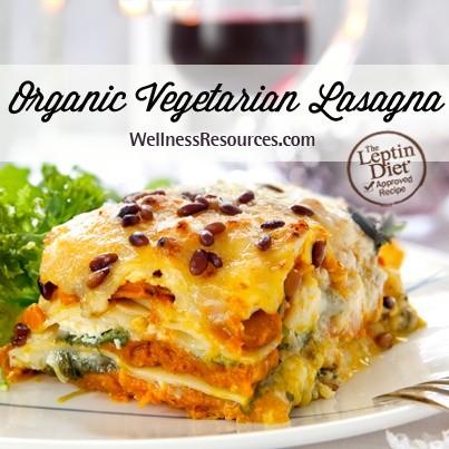 organic vegetarian lasagna